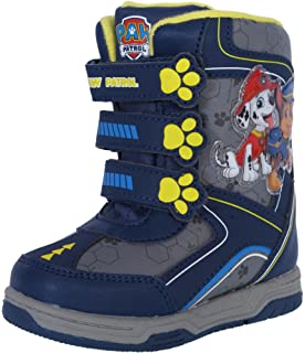 201541251936 Josmo Paw Patrol Boy s Snow Boots with Easy Straps Closure (Toddler
