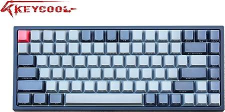 Keycool Hero 84 2019 Edition Teclado mecánico Cherry MX interruptores Mini Gaming 84 Teclas Teclado Negro Cherry MX Red Black/Grey