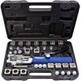 MASTERCOOL 72485-PRC Silver/Blue Universal Hydraulic Flaring Tool Set (3/8'&1/2' Transmission Cooling Line Die/Adapter…