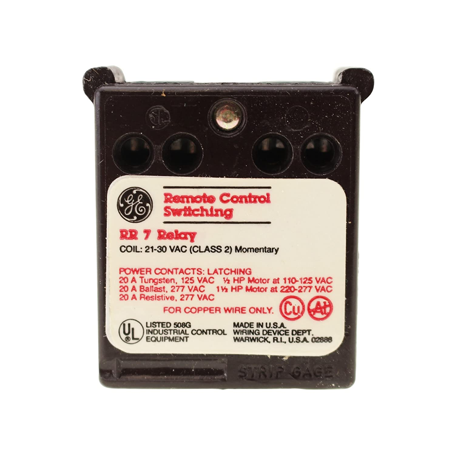 GENERAL ELECTRIC GE RR7 REMOTE CONTROL 21-30V-AC RELAY ... on