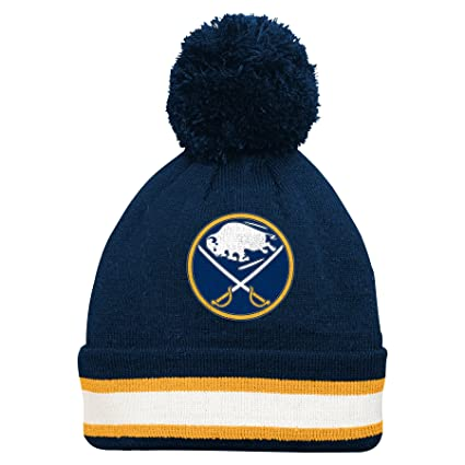 super popular c7603 51b98 Buy NHL Buffalo Sabres Youth 8-20 Cuffed Knit Hat with Pom, One Size, Navy  Online at Low Prices in India - Amazon.in