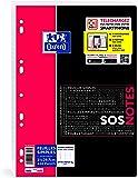 Oxford Etudiants SOS Notes Feuille Simple Grands Carreaux 400 Pages A4 Blanc