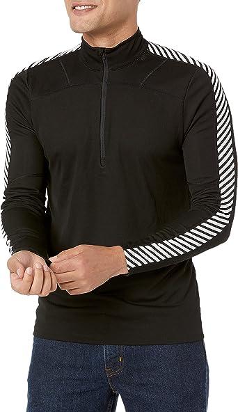 Ebony Helly Hansen Mens Lifa Active Long Sleeve Half Zip Base Layer