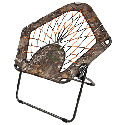 Black Sierra BGCH-003-C Bungee Chair Folding Portable Camping Gaming Dorm (Qty 1, Camo): Kitchen & Dining