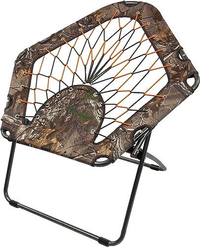 Black Sierra BGCH-003-C Bungee Chair Folding Portable Camping Gaming Dorm Qty 1