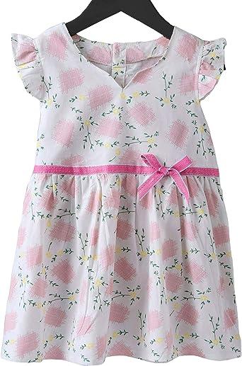 eloria Vestidos Casuales de Verano de algodón para niñas pequeñas ...