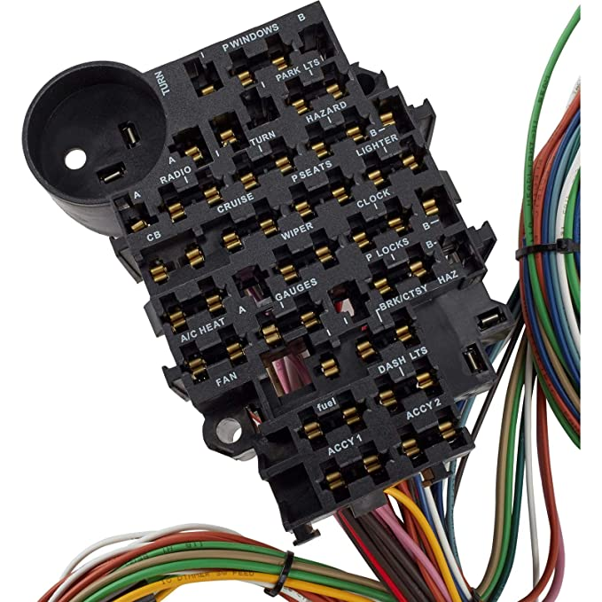 amazon com: 22 circuit universal street rod wiring harness w/detailed  instructions: automotive