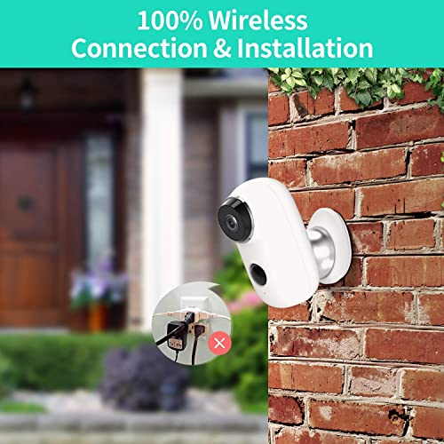 HeimVision HMD2 Wireless Rechargeable Battery-Powered Security Camera, 1080P Video with 2-Way Audio, Night Vision, Waterproof Home Indoor Outdoor WiFi Cameras with Cloud Service