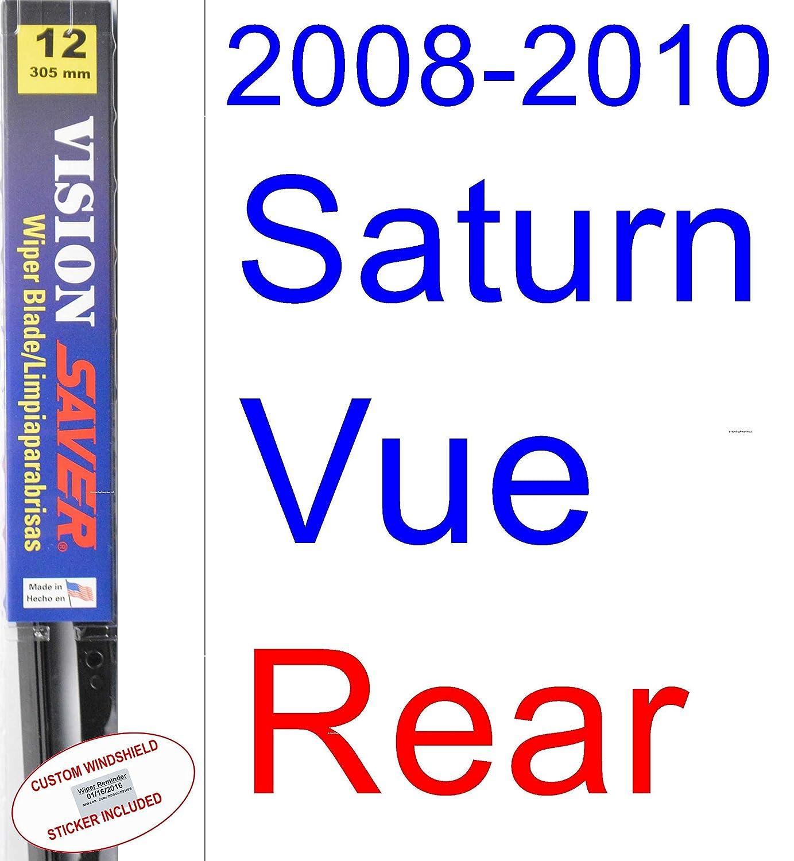 Amazon.com: 2008-2010 Saturn Vue Wiper Blade (Rear) (Saver Automotive Products-Vision Saver) (2009): Automotive