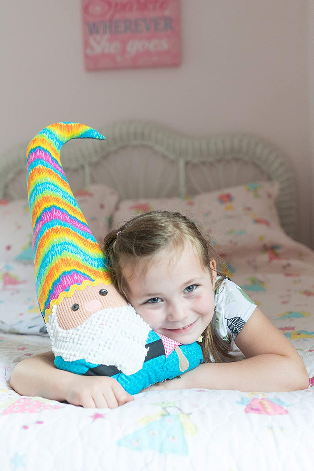 Boho hippie gnome plush doll