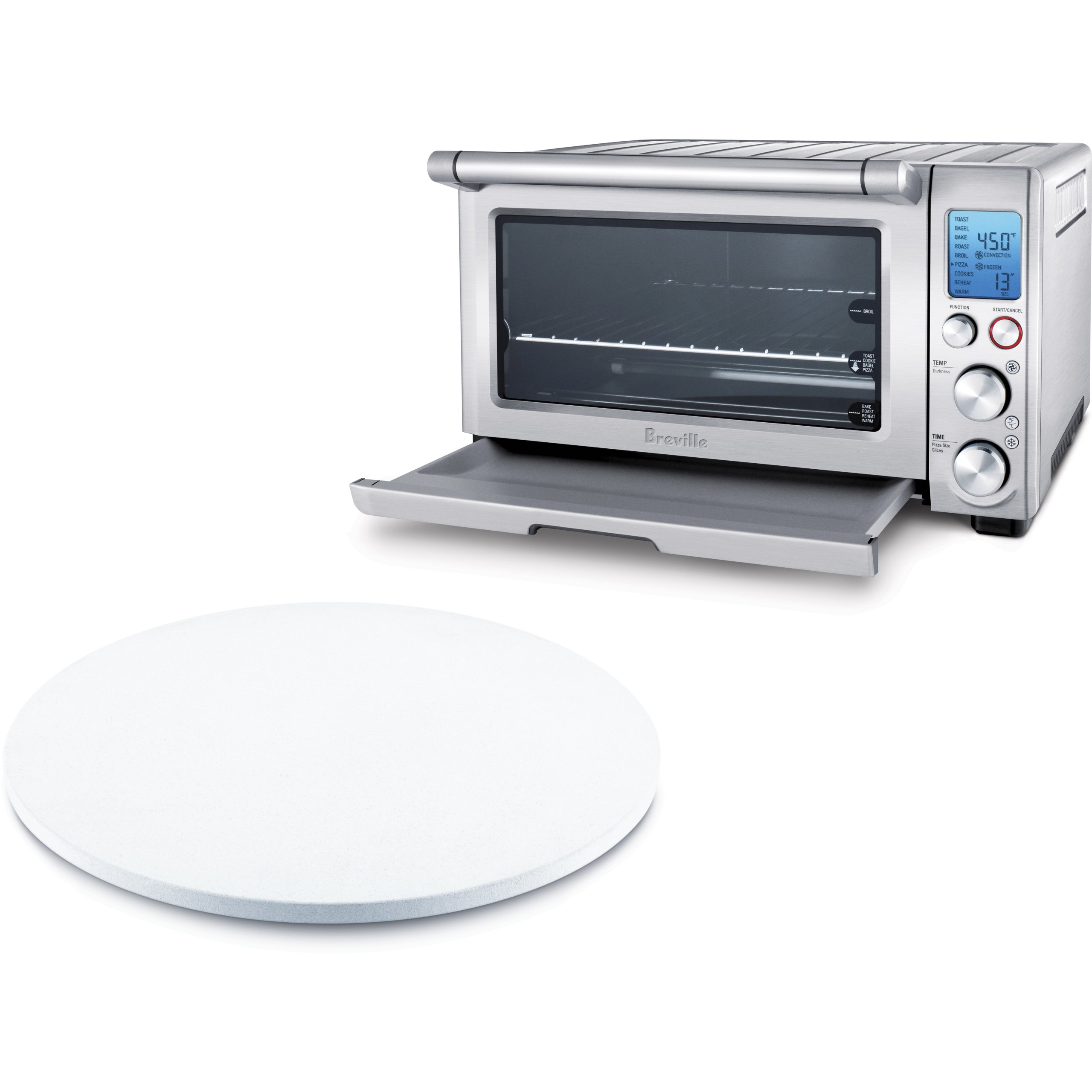 Breville BOV800XL Reinforced Stainless Steel Smart Oven with 13 Inch Pizza Stone by BREVILLE
