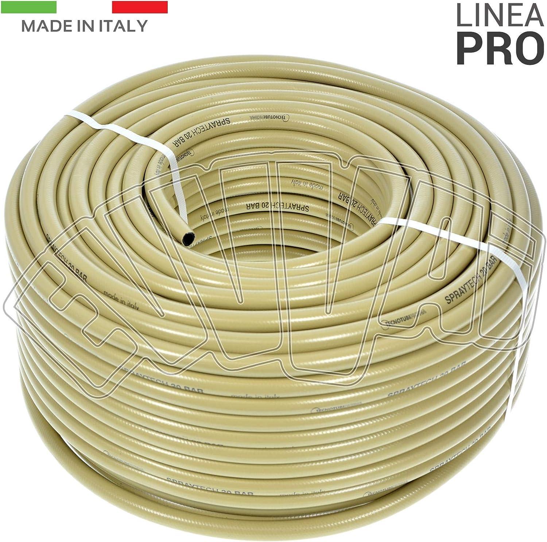 100MT TUBO PVC ALTA PRESSIONE RETINATO IRRORAZIONE DISERBO 20 BAR 8 X 13 MM
