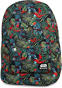 Loungefly x Star Wars Boba Fett Bright Leaves Print Backpack