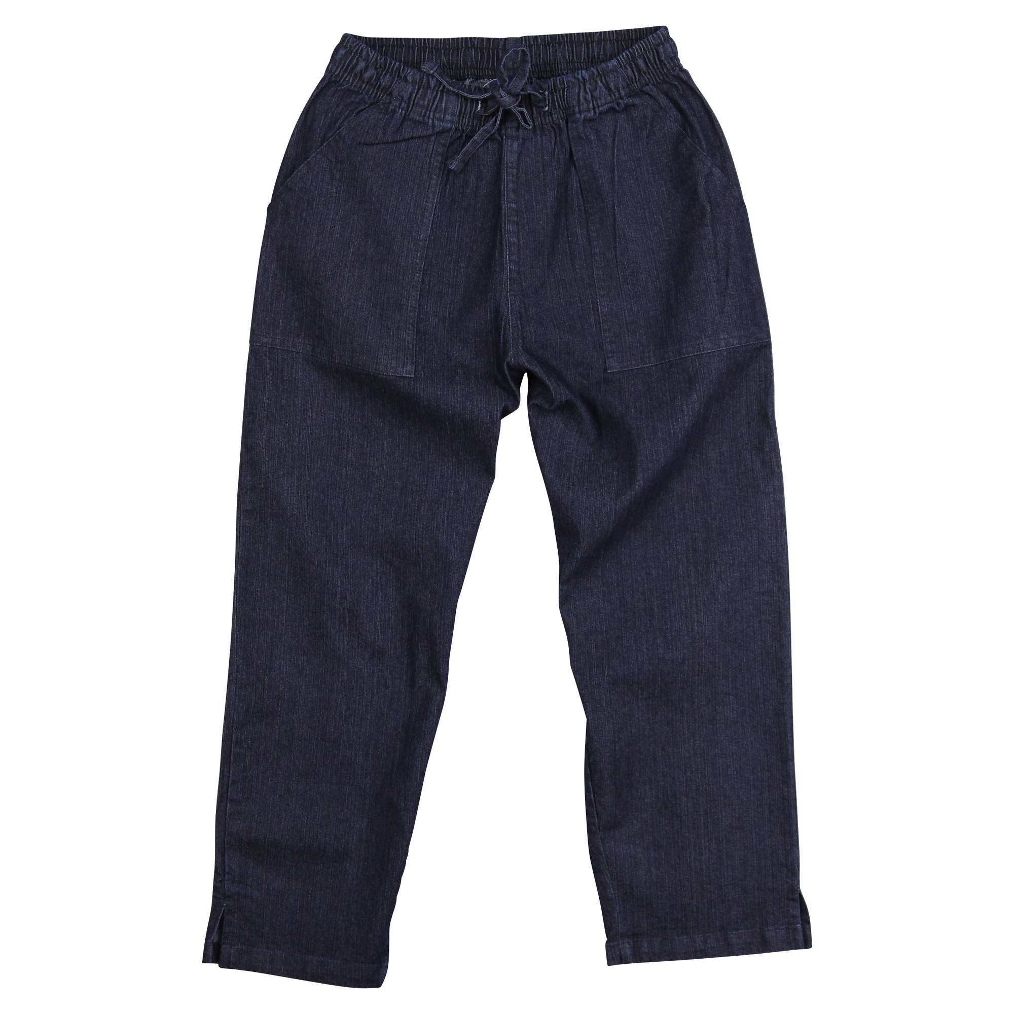 Urban Boundaries Women's Cotton Elastic Waist Capri Pants (Denim, Size 4-6)