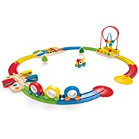 Hape E3815 Rainbow Sights & Sounds Toddler Wooden Railway