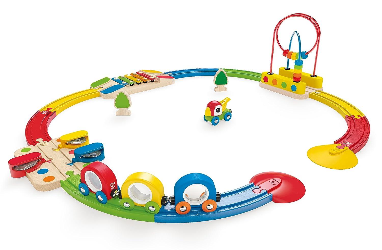 Circuito de tren musical y pasabolas Hape Modelos//colores Surtidos Barrutoys E3815 1 Unidad