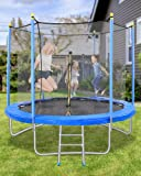 8FT Trampoline for Kids Adults with Enclosures & Capacity 264 lbs, Safety Net Jumping Mat Exercise Fitness Indoor…