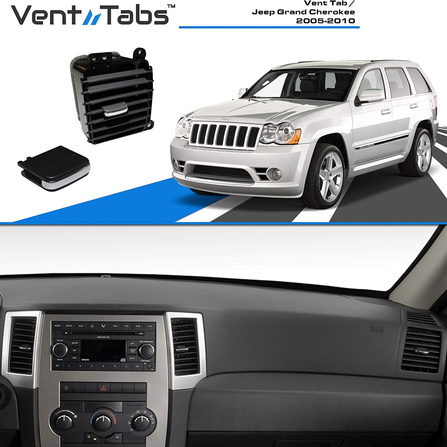 05-10 Jeep Grand Cherokee New Dash Vent Air Conditioning A//C Outlet Mopar Oem