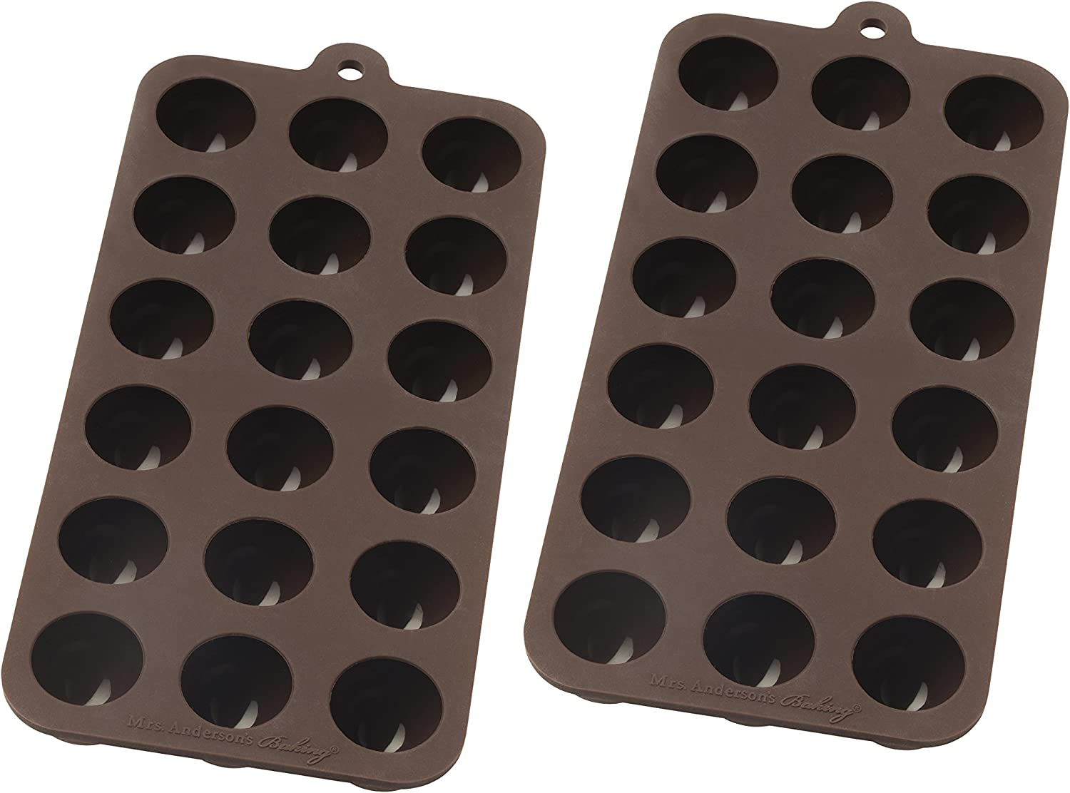 Mrs. Anderson's Baking 43763/2 Truffle Chocolate Mold, Set of 2, Brown