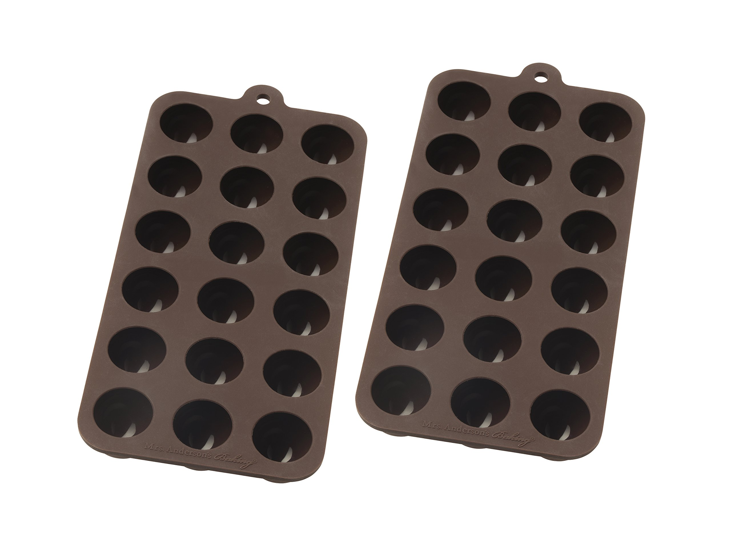 Mrs. Anderson's Baking Chocolate Mold, European-Grade Silicone, Truffle, Set of 2