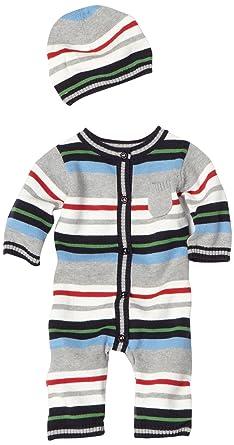 c76eb2aec128 Amazon.com  Hartstrings Baby-boys Newborn Sweater Romper and Hat Set ...