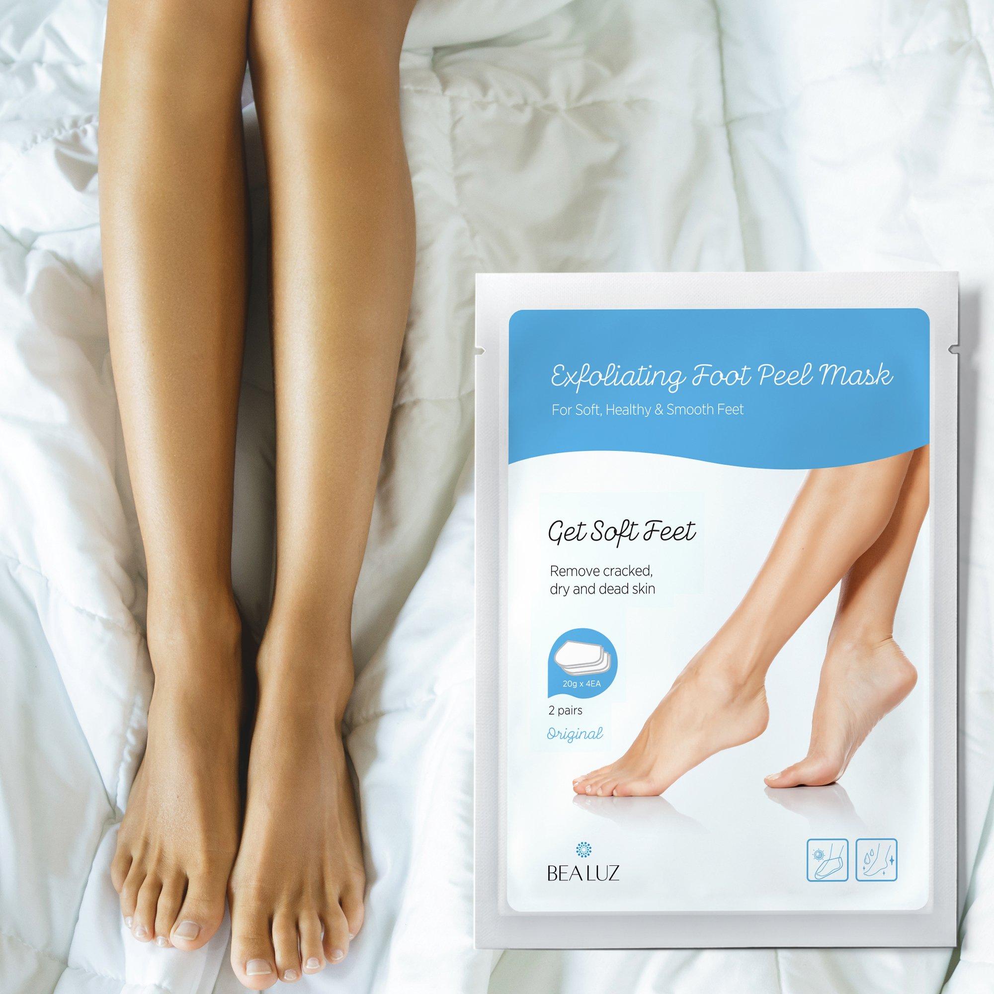 2 Pairs Exfoliating Foot Peel Mask, Soft & Smooth Feet, Peeling Away Rough Dead Skin & Calluses in 1-2 Weeks, Repairing Exfoliant by BEALUZ (Image #6)