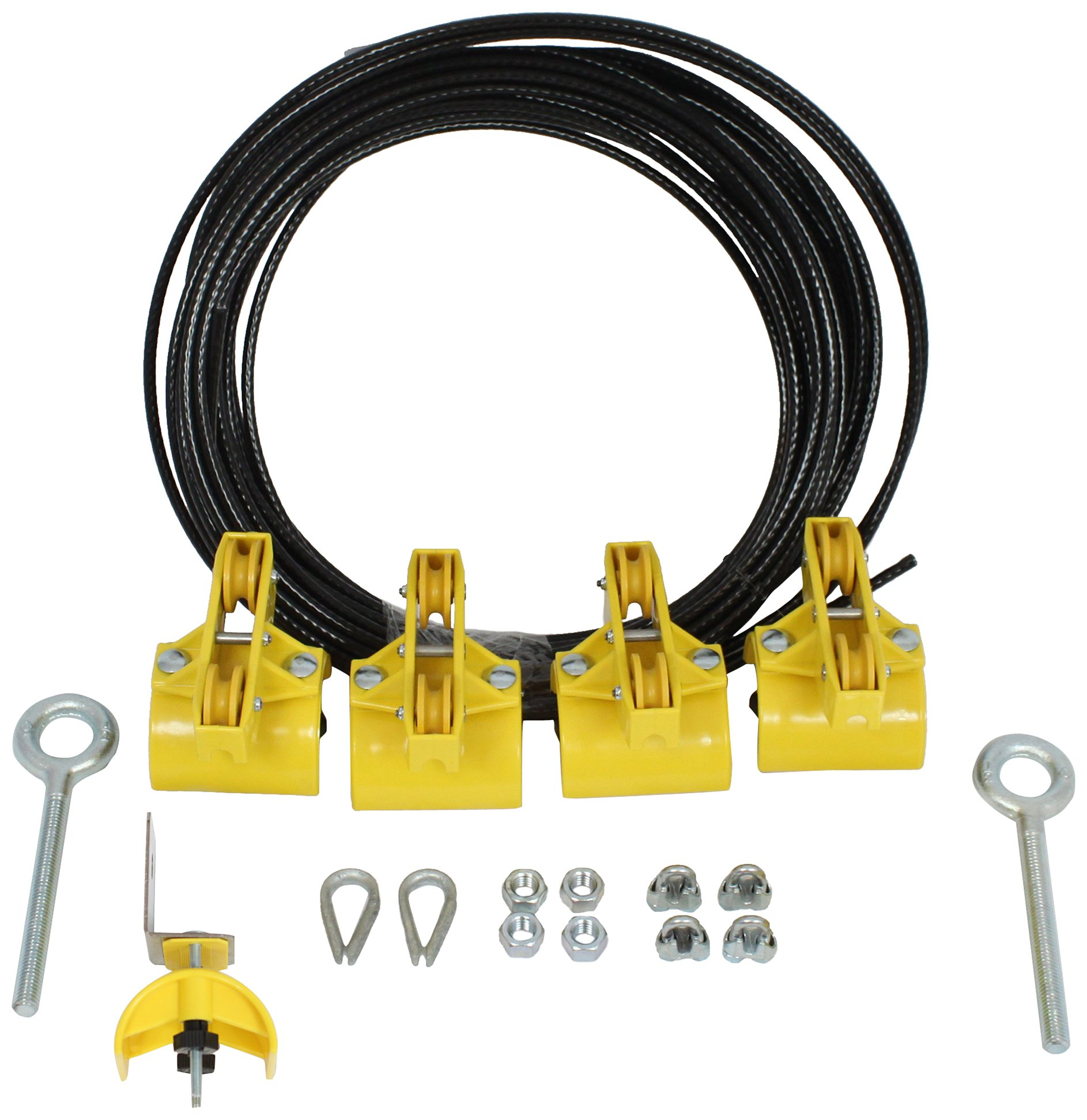 KH Industries FTSW-FL-KIT40 Festoon Stretch Wire Kit with 40' Length for Flat Cable System