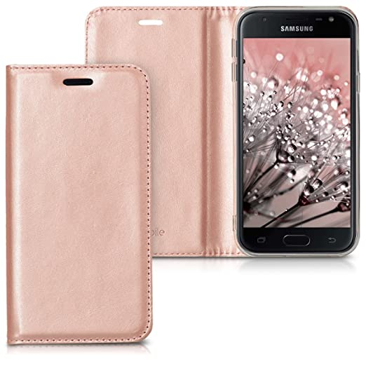 2 opinioni per kwmobile Custodia per Samsung Galaxy J3 (2017) DUOS- Cover a libro in simil