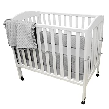 Amazoncom Tl Care Heavenly Soft Minky Dot 3 Piece Mini Crib Set