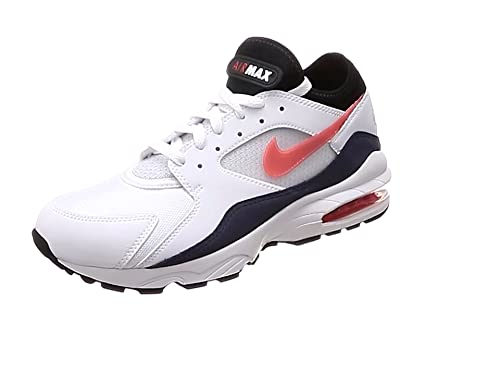 bd7be667e8 Nike Herren Air Max 93 Gymnastikschuhe Weiß (White/Crimson Bliss/Kinetic  Green/