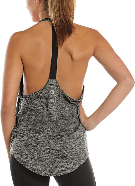 icyzone Backless Canotta da Donna per Sportivo Fitness
