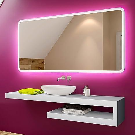 Espejo Bano.Foram Espejo De Bano Con Iluminacion Led Luz Espejo De Pared Con Accesorios Diferentes Tamanos Para Bano Dormitorio Maquillaje L59