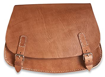 lower price with ef0d7 6ab64 Brunhide Womens Genuine Large Natural Leather Saddle  Bag - Sahara Range ... 3677bfd29e