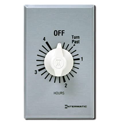Intermatic FF4H 4-Hour Spring Loaded Wall Timer, Brushed Metal ...