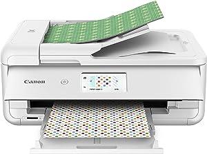 Canon TS9521C Wireless Crafting Printer, 12X12 Printing, White, Amazon Dash Replenishment Ready