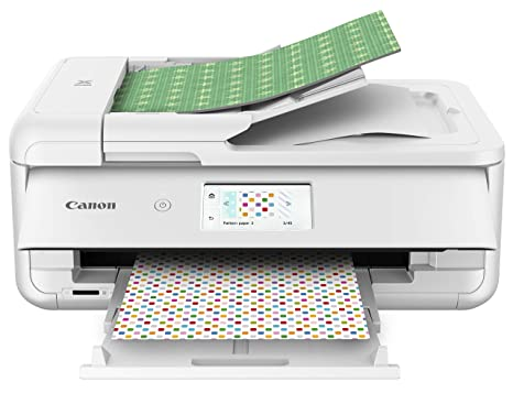 image regarding Best Printer for Printable Vinyl identified as Canon TS9521C Wi-fi Creating Printer, 12X12 Printing, White