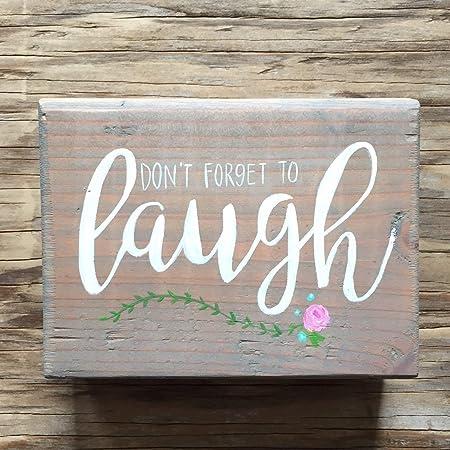 CELYCASY Dont Forget to Laugh - Estantería de Madera con ...