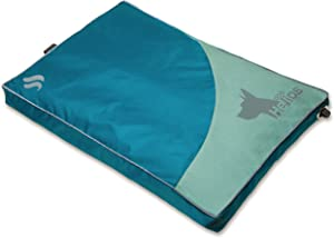 DOGHELIOS 'Aero-Inflatable' Folding Outdoor Camping Sporty Fashion Travel Waterproof Inflatable Pet Dog Bed Mat Lounge, Small, Blue