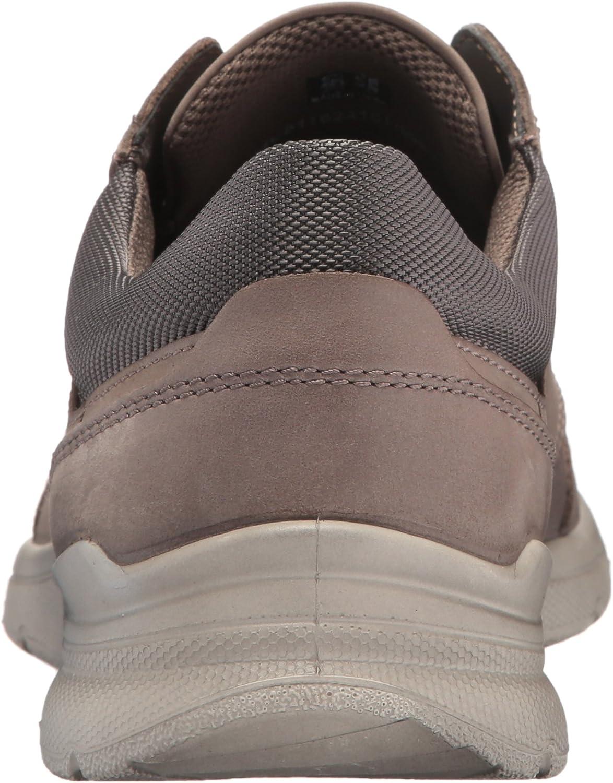 Ecco Irving, Zapatos De Cordones Derby Para Hombre Gris Dark Clay