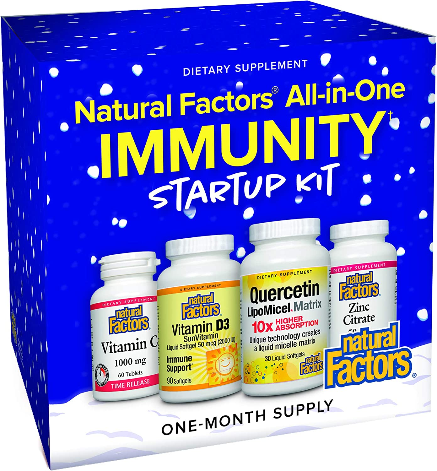 Natural Factors All-in-One Immunity Startup Kit - One Month Supply