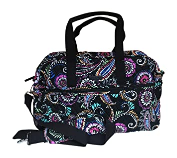 116a76e45 Amazon.com | Vera Bradley Medium Traveler Bag, Bandana Swirl | Carry-Ons