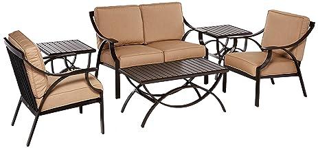 Woodard Furniture Merge Deep Seating Bundle   Heather Beige