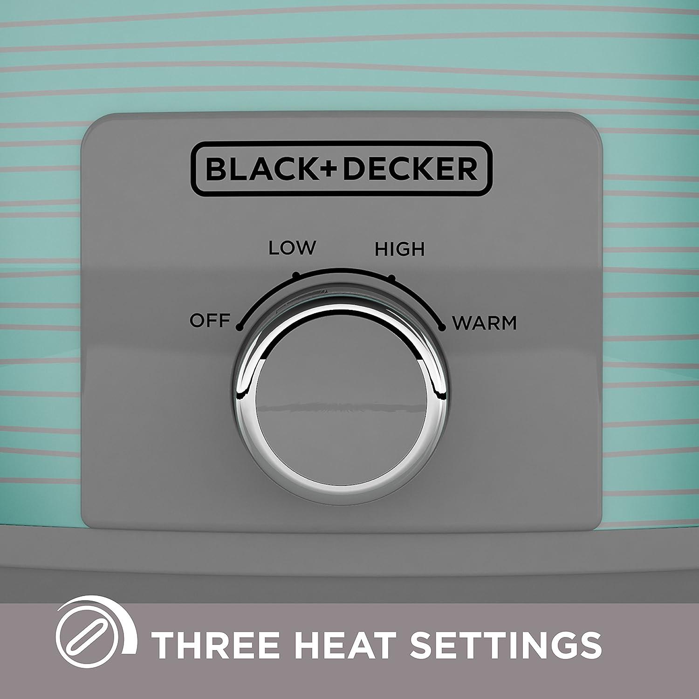 7 Quart BLACK+DECKER Slow Cooker Teal Wave