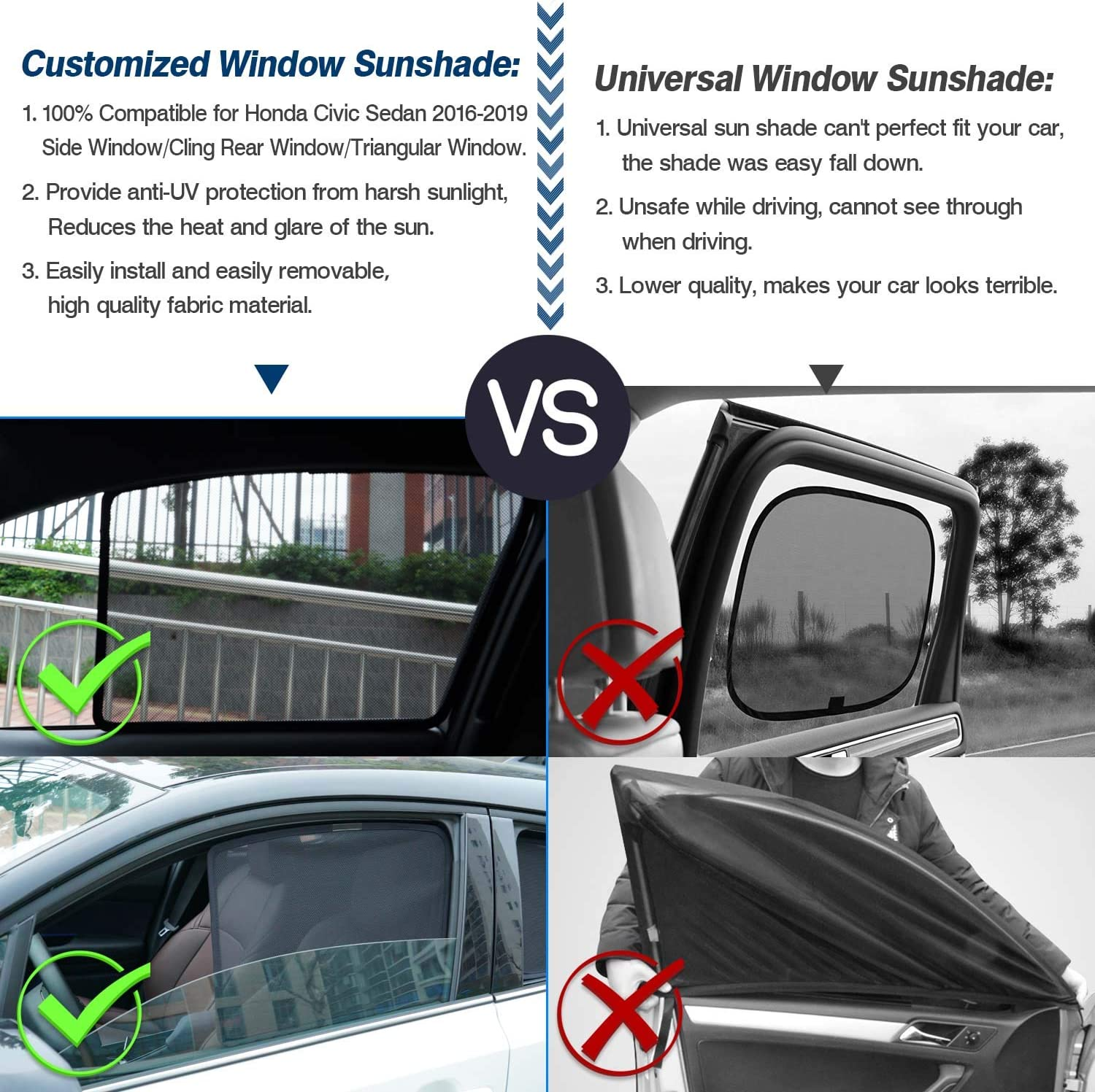Mix Super Model 3 Front Glass Roof Sunshade UV Block Shade Window Shade with Small Rear Side Window Sunshade for Tesla Model 3
