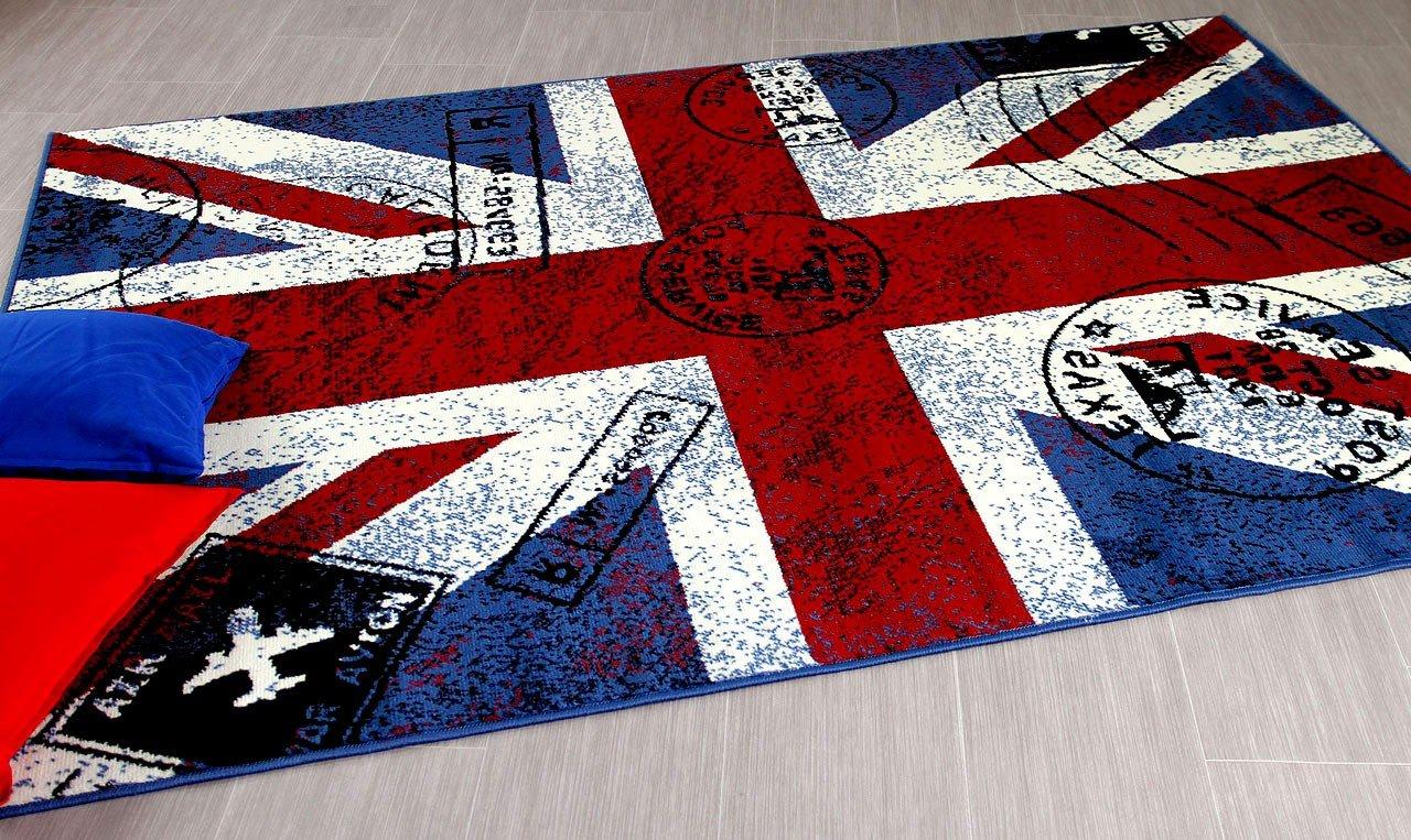 TrendLine Teppich Union Jack Rot Blau in 5 Größen B01EMFSK2I B01EMFSK2I B01EMFSK2I Teppiche fa76ee