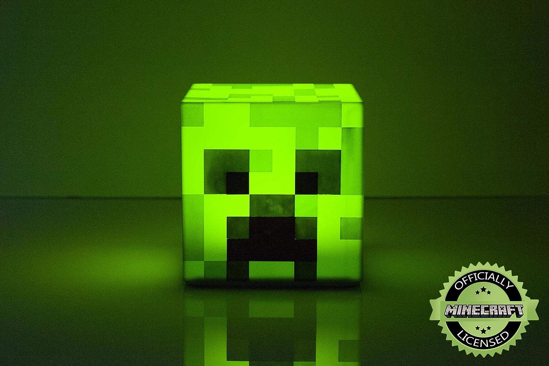 Minecraft Creeper LED Mood Light  Minecraft Creeper Lamp Mood Lighting  Battery Powered  Collectible Minecraft Mood Lamp  Green Mood Light LED