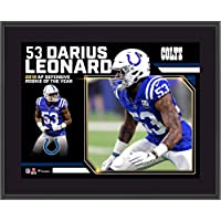 """$29 » Darius Leonard Indianapolis Colts 2018 Defensive Rookie of the Year 10"""" x 13"""" Sublimated Plaque - NFL Player Plaques and Collages"""