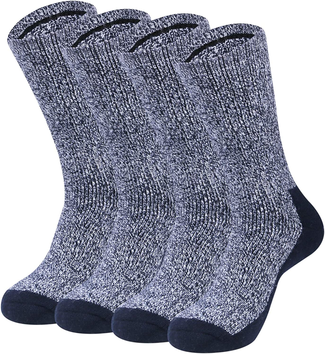 Loritta 2 Pack Thermal Socks for Men - Merino Wool Insultated Socks Winter Mens Warm Socks Black
