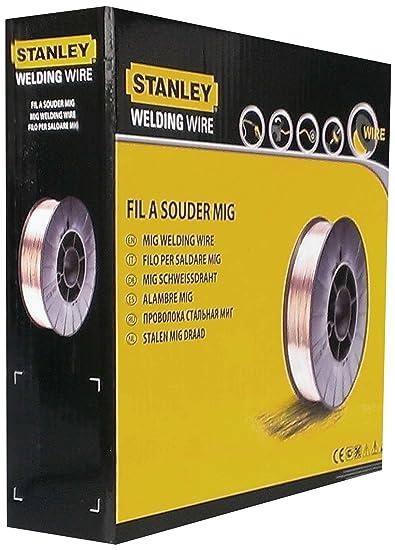 Stanley 460646 - Bobina de hilo de acero (para soldadura MIG, diámetro: 0,6 mm): Amazon.es: Industria, empresas y ciencia