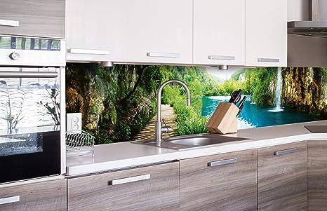 DIMEX LINE Küchenrückwand Folie selbstklebend ENTSPANNUNG IM Wald 260 x 60  cm | Klebefolie - Dekofolie - Spritzschutz für Küche | Premium QUALITÄT
